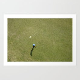 Golf from above Art Print