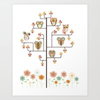 Owl Find Out Who Art Print