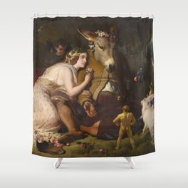 Scene from A Midsummer Night's Dream. Titania and Bottom by Edwin Henry Landseer (1848) Shower Curtain