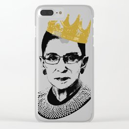 Notorious RBG Clear iPhone Case