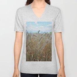 beautiful barley field Unisex V-Neck