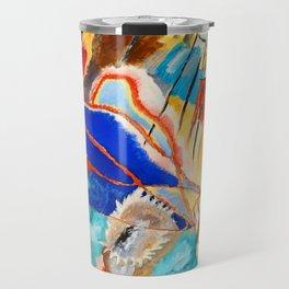 Improvisation No 30 Painting Cannons Vasily Kandinsky Colorful Modern Art Vibrant Abstract Art Travel Mug