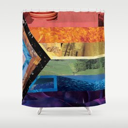 Progress Pride Flag Collage Shower Curtain