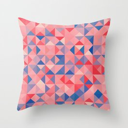 colorful Triangles 1 Throw Pillow