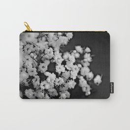 Baby's-breath black and white Carry-All Pouch