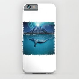 Humpback Whale Under Northern Lights iPhone Case