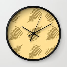 Fern pattern in cappuccino  Wall Clock