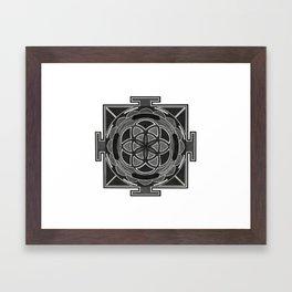 Seed of Life Mandala Framed Art Print