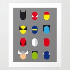 Famous Capsules - Superheroes Art Print