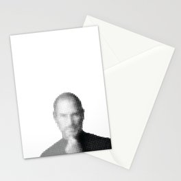 Jobs Abstract Portrait Stationery Cards