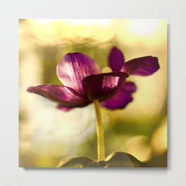 Glowing Purple Flower #decor #buyart #society6 Metal Print