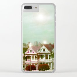 Painted Ladies - remix Clear iPhone Case
