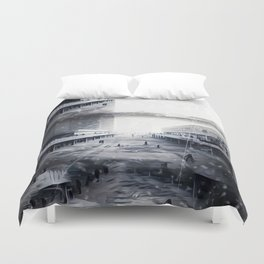 Snowfallen Ashes: Within These Years of Questionable Defeat Duvet Cover