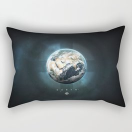 A Portrait of the Solar System: Earth Rectangular Pillow