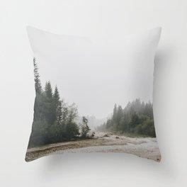 Riverside landscape photography Throw Pillow