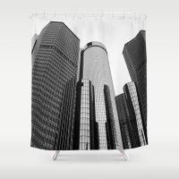 renaissance Shower Curtains featuring Renaissance Center by Starr Cuevas Photography