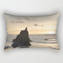 Arcadia Beach Sunset Lion Rock Oregon Coast Pacific Ocean Rectangular Pillow