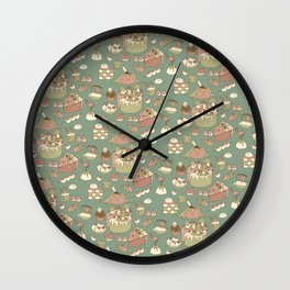 Japanese Alice in Wonderland Pattern  Wall Clock