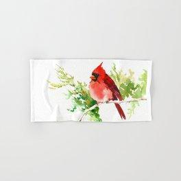 Cardinal Bird, stet birds decor design cardinal bird lover gift Hand & Bath Towel