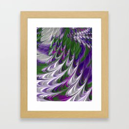 Purple and Green Abstract Framed Art Print