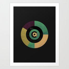 Circle Fibonacci.1 Art Print