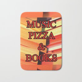Music Pizza & Books Bath Mat
