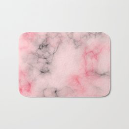 Pink and gray marble Bath Mat