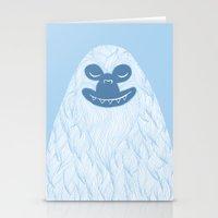 yeti Stationery Cards featuring Yeti by valorandvellum