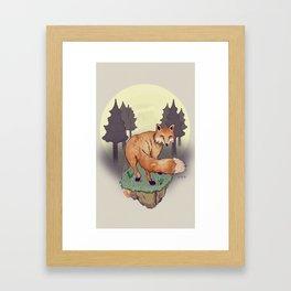 Snoqualm Fox Framed Art Print