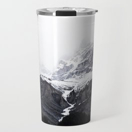 Moody snow capped Mountain Peaks - Nature Photography Travel Mug