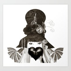 Holly's Hat Art Print