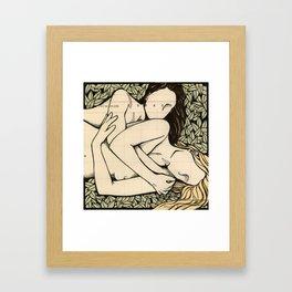 Ledger Girls: Red Blonde Framed Art Print