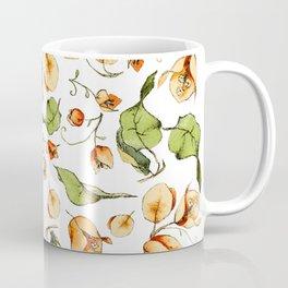 Orange Bougainvillea Illustration Coffee Mug