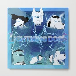 Lightning Dogs: Farfetched :: by Tony Baldin Metal Print