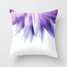 Agave geo fringe - amethyst Throw Pillow