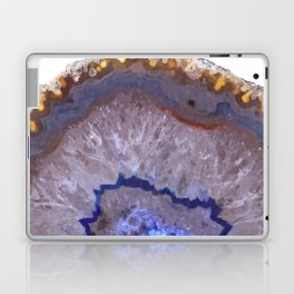 Druze dark blue agate Laptop & iPad Skin
