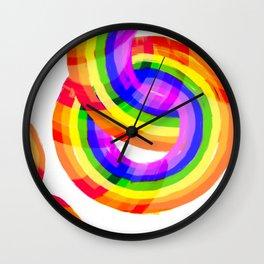 Happy Rainbow Wall Clock