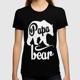 fresh tees Papa Bear T-Shirts Father's Day Shirt Papa Tshirt Father Day Gift T-shirt