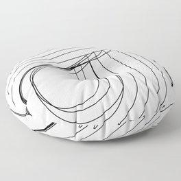 Helvetica Condensed 002 Floor Pillow