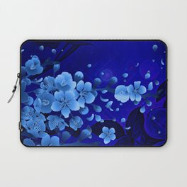 Cherry blossom, blue colors Laptop Sleeve
