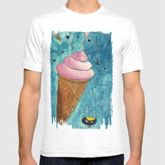 It Look Like Ice-cream... MEDIUM White Mens Fitted Tee