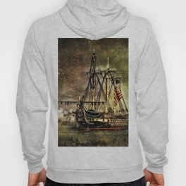 Tall ship USS Constitution Hoody