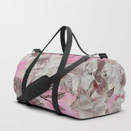 Neon Pink Floral Duffle Bag
