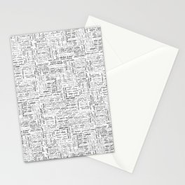 can't relate typography print Stationery Cards