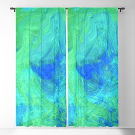 Abstract Blue and Green 1057 Blackout Curtain