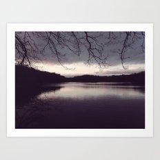 At The Lake Art Print