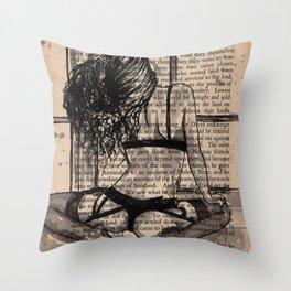 Rain time Throw Pillow