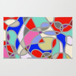 Stain Glass Abstract Meditation Painting 1 Rug