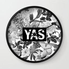 YAS B&W Wall Clock