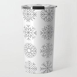 minimalist snow flakes Travel Mug